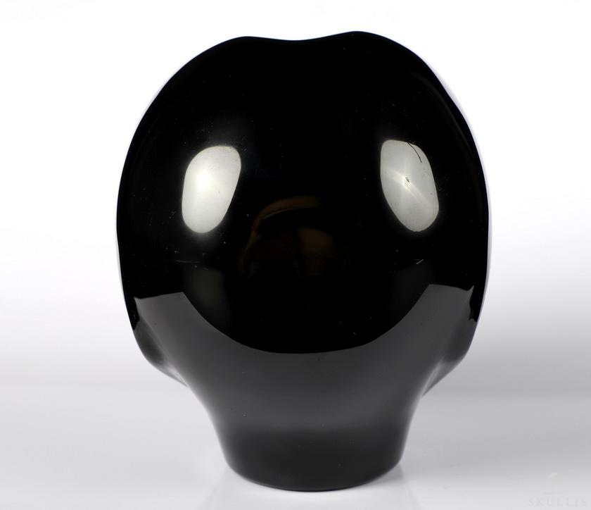 Black Obsidian and Carved Gemstone Fine Art Sculpture,