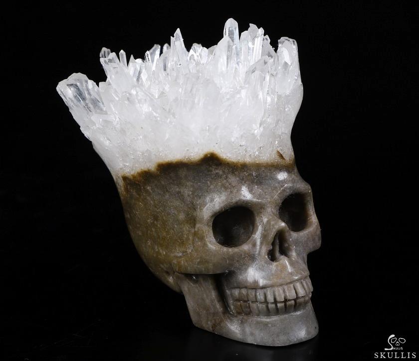 "Details about  /2/"" Natural Quartz sardonyx Skull Carved Quartz Crystal Skull Healing 1PC"