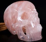 "TITAN 12.2"" Rose Quartz Carved Crystal Skull,Super Realistic, Crystal Healing"