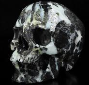 "Huge 5.0"" Chinese Amazonite Carved Crystal Skull,Super Realistic, Crystal Healing"