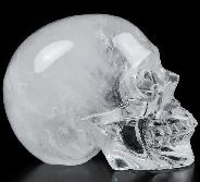 "2.0"" Quartz Rock Crystal Carved Crystal Skull, Realistic, Crystal Healing"