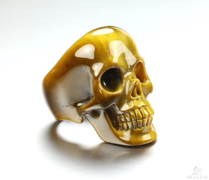 Gold Tiger's Eye Crystal Skull