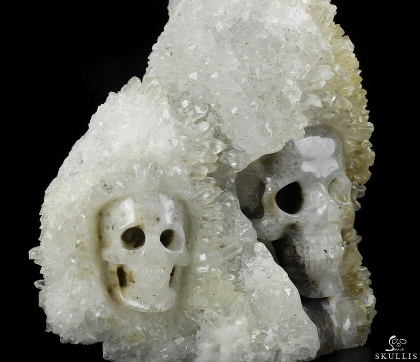 Quartz Rock Crystal Druse Crystal Skulls Sculpture