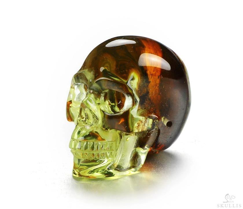 Baltic Amber Crystal Skull