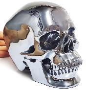 "Lifesized 6.8"" Tera-hertz Carved Crystal Skull,Super Realistic, Crystal Healing"