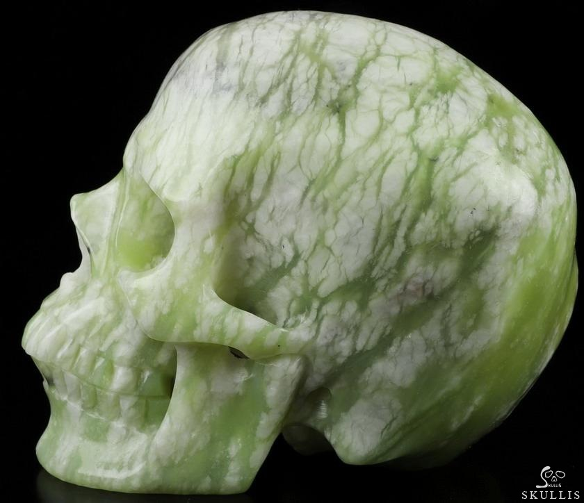 Chinese Picasso Jasper Crystal Skull