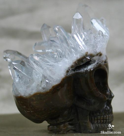 Quartz Rock Crystal Druse Crystal Alien Skull