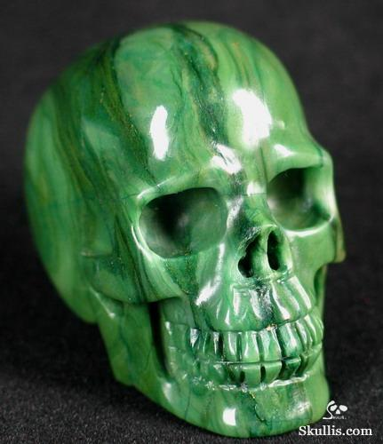 African Green Stone Crystal Skull