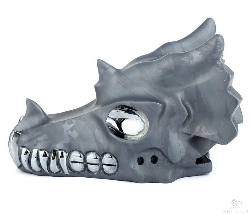 Tera-hertz Crystal Frosted Dragon Skull
