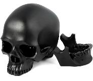 "5.0"" Black Obsidian Carved Super Realistic Crystal Skull,Detachable, Crystal Healing"