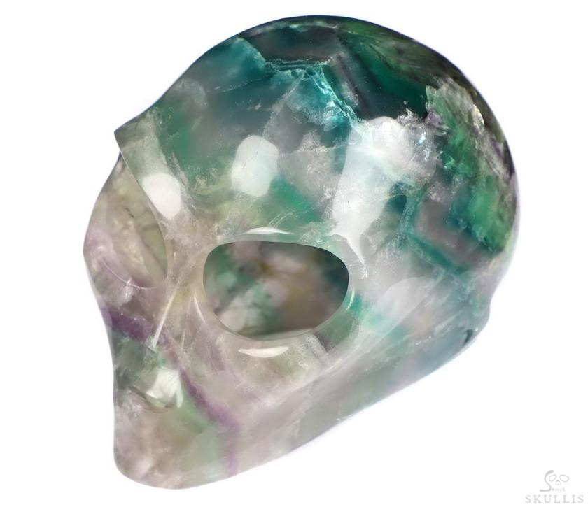 Rainbow Fluorite Crystal Female Alien Skull