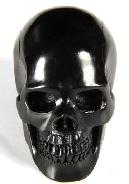 2.0'' Jet Carved Crystal Skull, Realistic