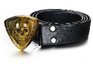 Tiger's Iron Eye/tigereye Carved Skull Buckle, Gemstone