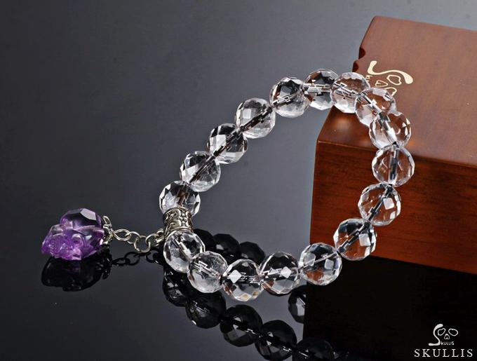 Natural Quartz Rock Crystal Beads Stretch Bracelet