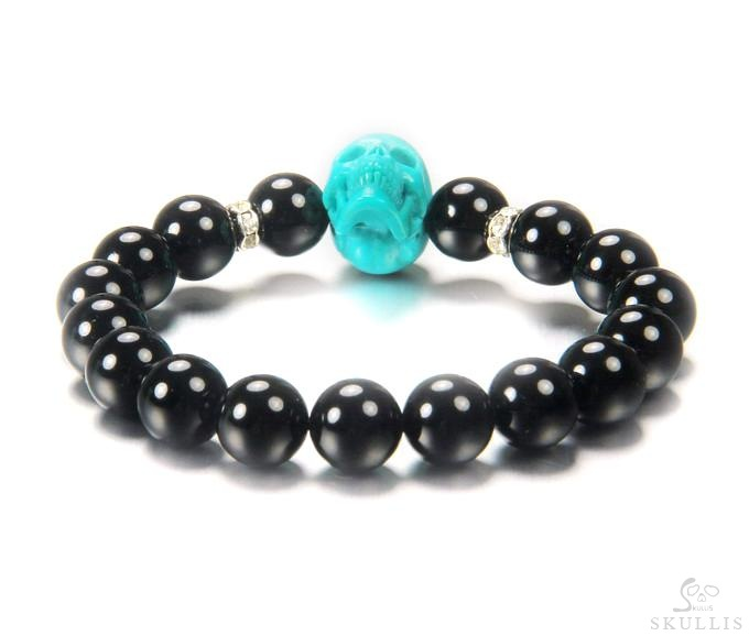 Black Obsidian Beads Stretch Bracelet