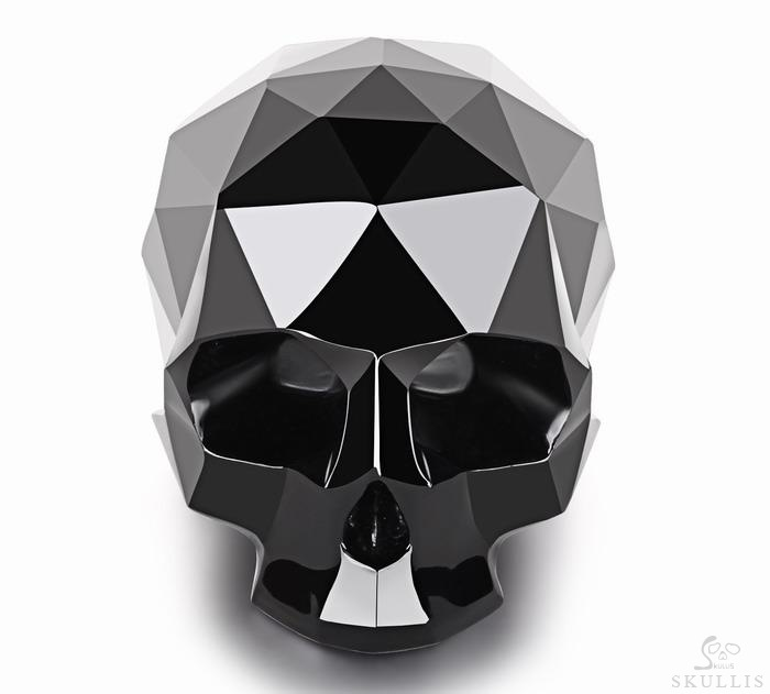 Black Obsidian Crystal Skull Sculpture