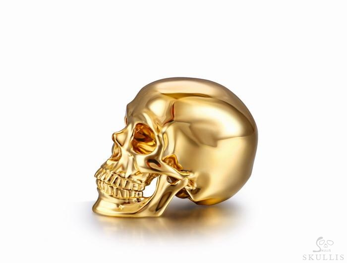 Solid 18K Gold Skull