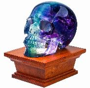 Rikoo Rosewood LED White Light Display Stand, Crystal Lamp Wooden Base for Gemstone Crystal Stone Sculpture & Mineral Specimen