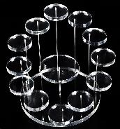 "Floating 13 Crystal Skulls White Acrylic Display Stand for 1.5""-2.5"" Crystal Skull"