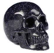 "2.0"" Synthetic Blue Sand Stone Carved Crystal Skull, Realistic, Crystal Healing"