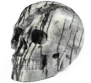 "2.0"" Picasso Jasper Carved Crystal Skull, Realistic, Crystal Healing"