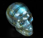 "2.0"" Labradorite Carved Crystal Skull, Realistic, Crystal Healing"