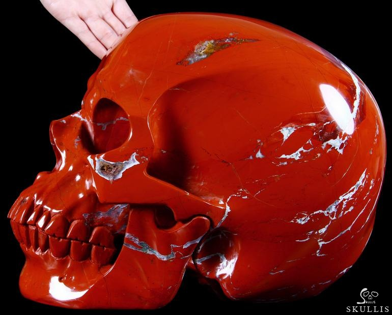 Red Jasper Crystal Skull
