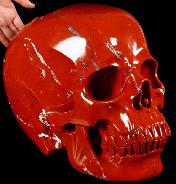 "TITAN 12.6"" Red Jasper Carved Crystal Skull, Super Realistic"