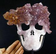 Jan 14, 2015 ACSAD (A Crystal Skull a Day) - Carnival Felicitas - Amethyst Druse Carved Crystal Skull Mask Sculpture