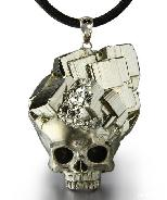 Apr 27, 2015 ACSAD (A Crystal Skull a Day) - Dreamtime - Pyrite Druse Carved Crystal Skull Pendant with Sterling Silver