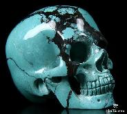 "Gemstone 2.1"" Turquoise Carved Crystal Skull, Super Realistic"