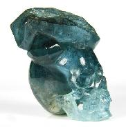 "Gemstone 2.1"" Aquamarine Carved Crystal Skull"