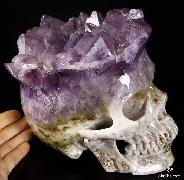 Jan 22, 2015 ACSAD (A Crystal Skull a Day) - The Ascension of Consciousness - Amethyst Druse Carved Crystal Skull Sculpture