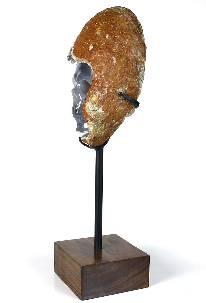 Agate Crystal Skull Sculpture
