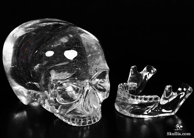 Quartz Rock Crystal Mitchell-Hedges Crystal Skull of Doom Replica Sculpture