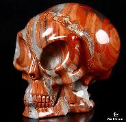 May 7, 2015 ACSAD (A Crystal Skull a Day) - Making Contact - Red Jasper Carved Alien Crystal Skull Sculpture