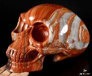 May 11, 2015 ACSAD (A Crystal Skull a Day) - Orion's Light - Red Jasper Carved Alien Crystal Skull Sculpture