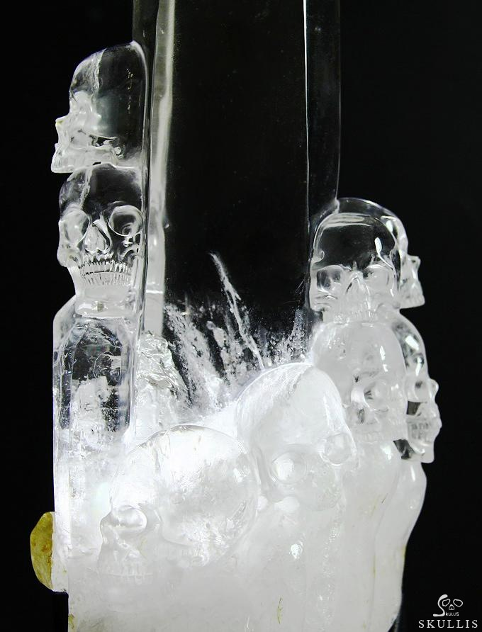 Quartz Crystal Crystal Skulls Lighted Sculpture