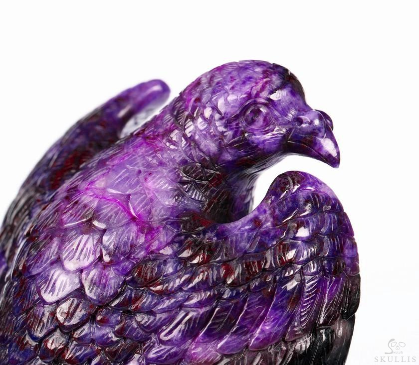Sugilite Crystal Skull & Peace Dove