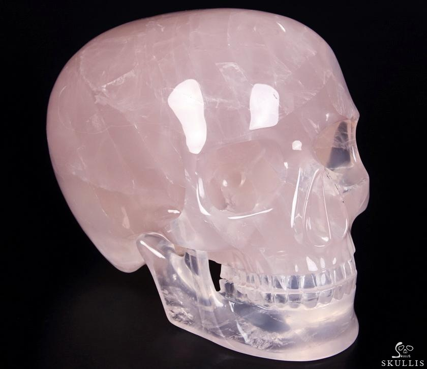 Rose Quartz Crystal Detachable Skull