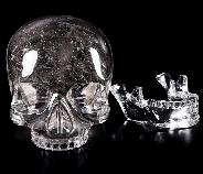 "Giant 8.3"" SMOKY Quartz Rock Crystal Carved Crystal MH Skull Replicas, Detachable Skulls, Super Realistic, Crystal Healing"