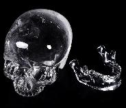 "Giant 8.1"" Quartz Rock Crystal Carved Crystal MH Skull Replicas, Detachable Skulls, Realistic, Crystal Healing"