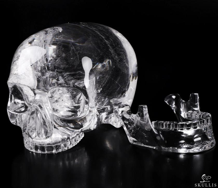 Quartz Rock Crystal Crystal MH Skull Replicas, Detachable Skulls