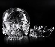 "Giant 8.0"" Quartz Rock Crystal Carved Crystal MH Skull Replicas, Detachable Skulls, Realistic, Crystal Healing"