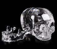 "Giant Clear 8.1"" Quartz Rock Crystal Carved Crystal MH Skull Replicas, Detachable Skulls, Realistic, Crystal Healing, Realistic, Healing"