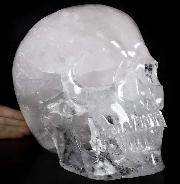 "TITAN 11.5"" Quartz Rock Crystal Carved Crystal Skull,Super Realistic, Crystal Healing"