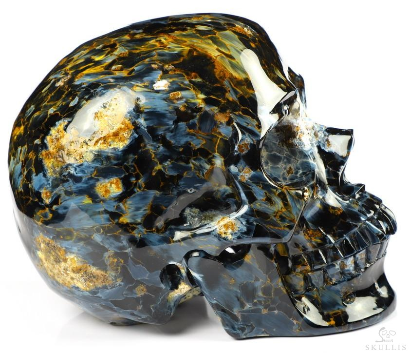 Blue Pietersite Crystal Skull