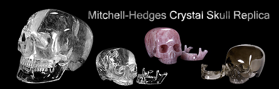 Skullis Re-created Mitchell-Hedges Crystal Skull
