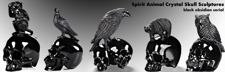 Spirit animal & skull sculpture